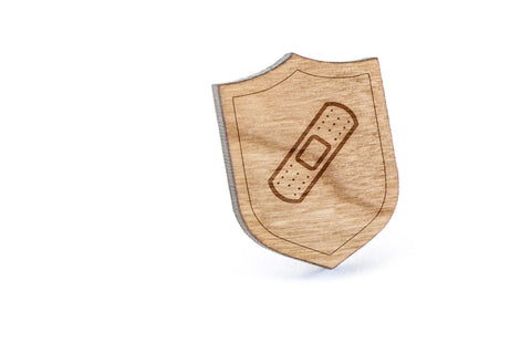 Bandaid Wood Lapel Pin