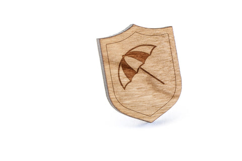 Umbrella Wood Lapel Pin