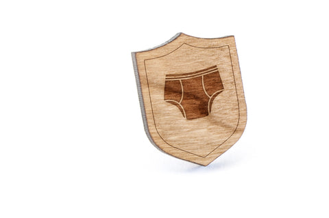 Underwear Wood Lapel Pin