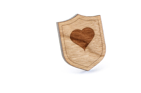 i Love You Wood Lapel Pin