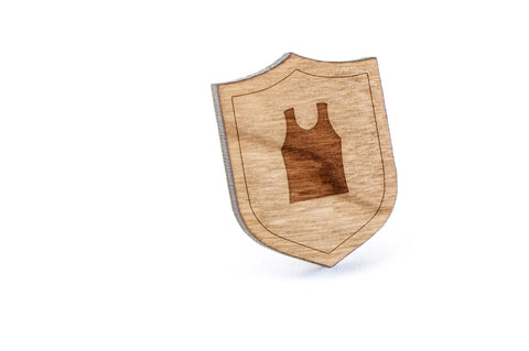 Basketball Jersey Wood Lapel Pin