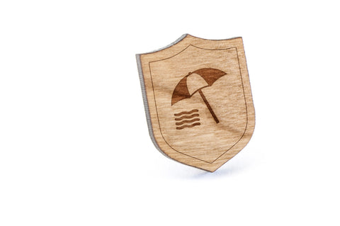 Beach Wood Lapel Pin