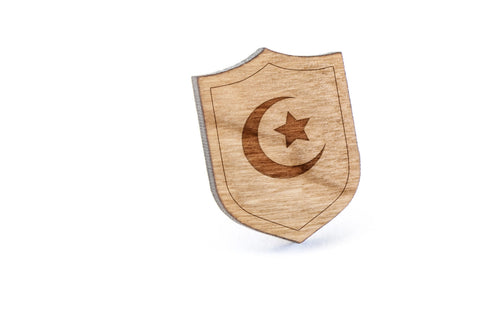 Islam Symbol Wood Lapel Pin