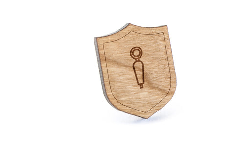 Beer Tap Wood Lapel Pin