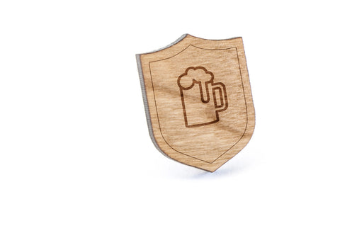 Beermug Wood Lapel Pin
