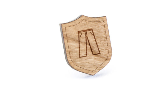 Jeans Wood Lapel Pin