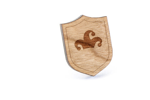 Jester Hat Wood Lapel Pin