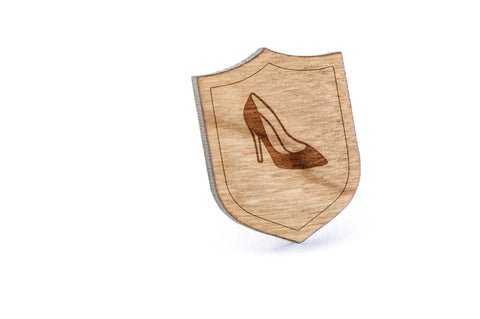 High Heels Wood Lapel Pin