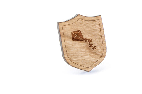 Kite Tail Wood Lapel Pin
