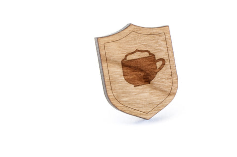Hot Chocolate Wood Lapel Pin