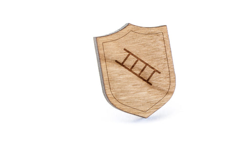 Ladder Wood Lapel Pin