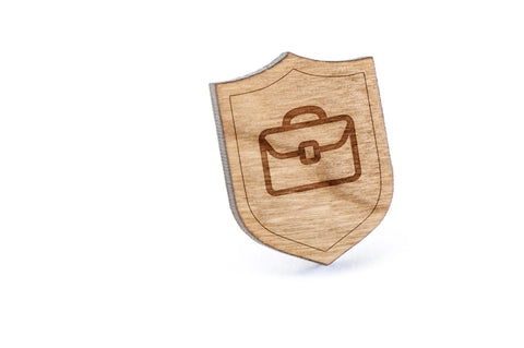 Suitcase Wood Lapel Pin