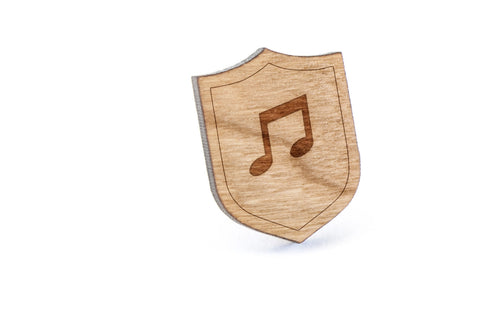 Music Note Wood Lapel Pin