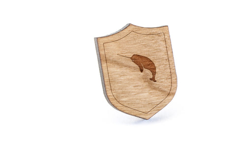 Narwhal Wood Lapel Pin