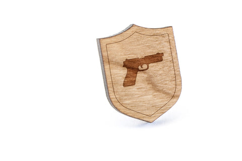 Pistol Wood Lapel Pin