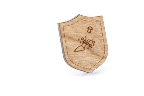 New Year Wood Lapel Pin