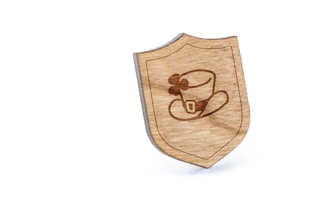 Leprechaun Wood Lapel Pin