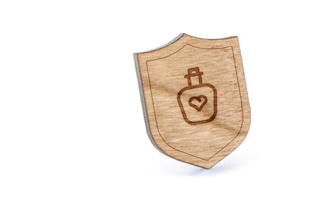 Love Potion Wood Lapel Pin