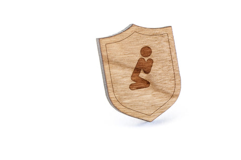 Praying Wood Lapel Pin