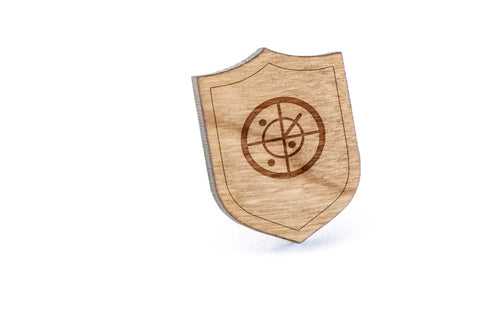 Radar Wood Lapel Pin