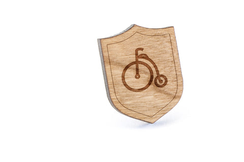 Old Bicycle Wood Lapel Pin