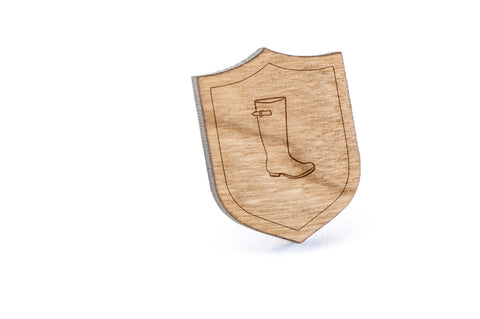 Rain Boot Wood Lapel Pin