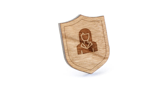 Real Estate Agent Wood Lapel Pin