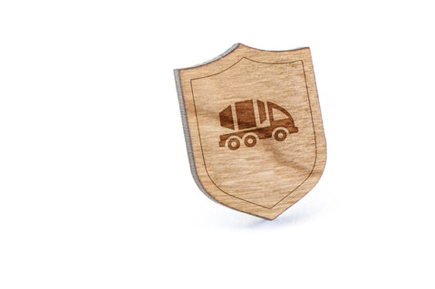 Cement Truck Wood Lapel Pin