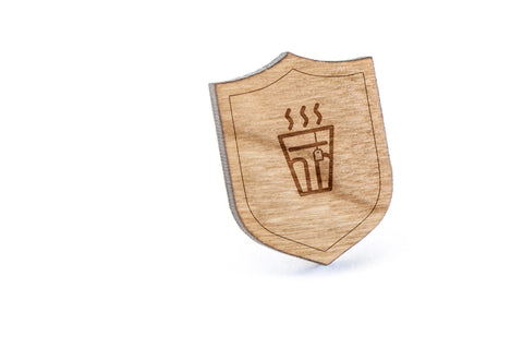 Chai Wood Lapel Pin