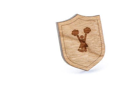 Cheerleader Wood Lapel Pin