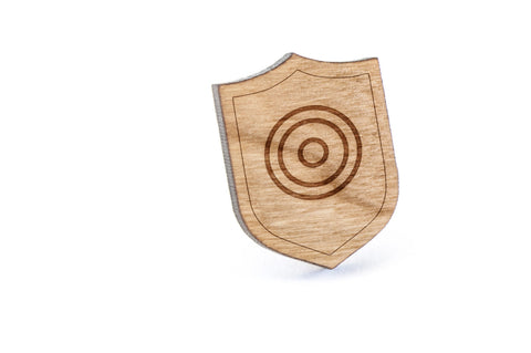 Circles Wood Lapel Pin