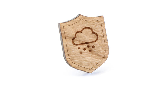 Cloud Snow Wood Lapel Pin