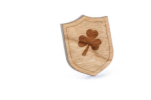Clover Wood Lapel Pin