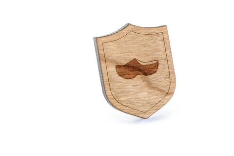 Clogs Wood Lapel Pin