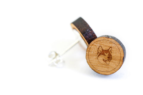Akita Wood Earrings