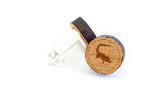 Alligator Wood Earrings