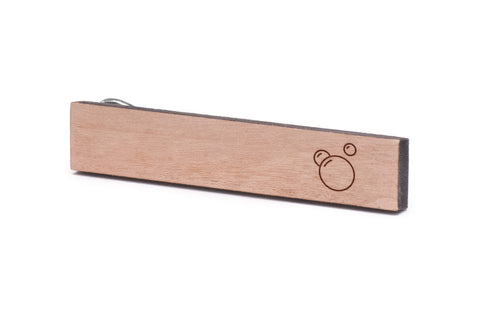 Bubbles Wood Tie Clip