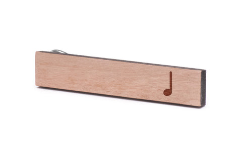 Quarter Note Wood Tie Clip