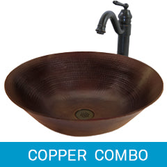 Copper Sink and Faucet Combinations