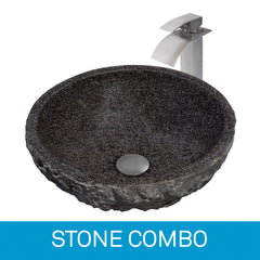 Stone Sink and Faucet Combinations