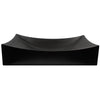Rectangle matte black ceramic vessel sink with no overflow