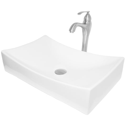Rectangular Porcelain Vessel Bath Sink Combo NSFC-01141116 Series