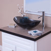 bathroom vessel faucet in chrome w/ bigio glass vessel sink