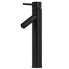 Single Lever Vessel Faucet in matte black