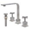 "8"" Widespread Bathroom Faucet with an Overflow Drain"