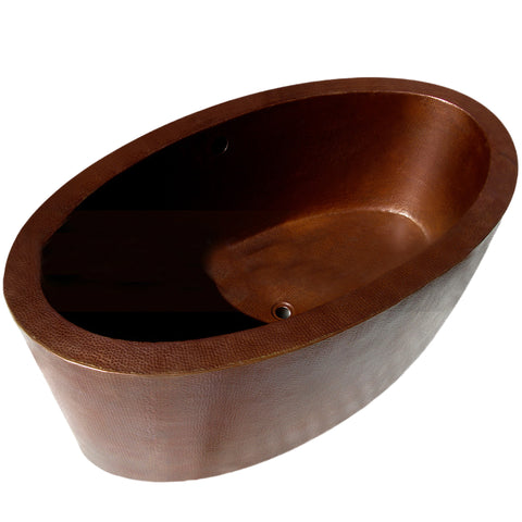Hand Hammered Copper Tub