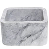 Single Bowl Carrara White Marble Bar Prep Sink