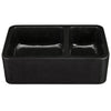 Farmhouse Kitchen Sink in Black Granite with Polished Apron