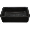 Single Bowl Kitchen Sink in Black Granite polished backside