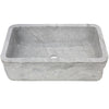Carrera white marble kitchen stone sink